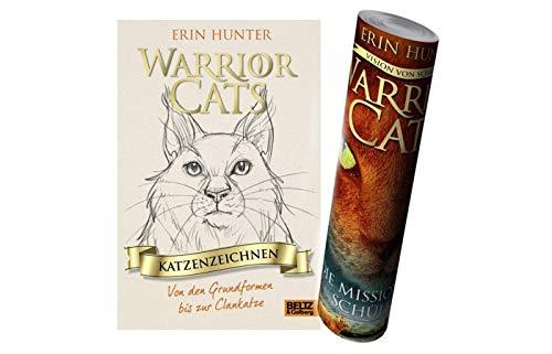 Unbekannt Warrior Cats - Katzenzeichnen: Von den Grundformen bis zur Clankatze + 1x Warrior Cats Poster by Collectix