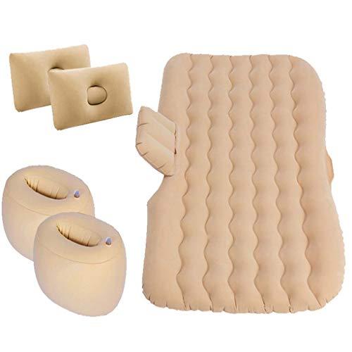 MoLi Car Air Mattress for Back Seat with Air Pump, 2 Pillows, Portable Camping Car Sleep Bed, Flocking Surface, Waterproof
