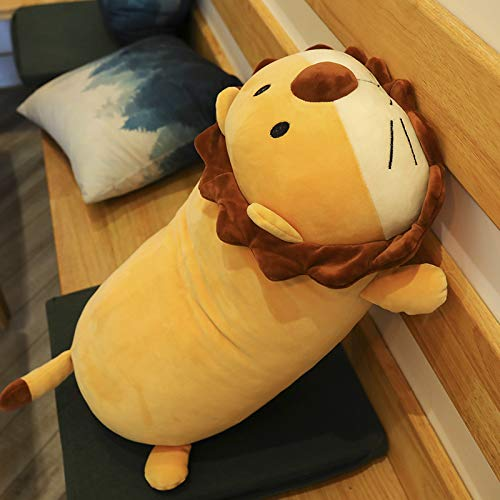 DHLZ Kissen Löwen Puppe Plüschtier Puppe Puppe Süßes großes Mädchen Schlafkissen 45 cm Liegender Löwe 1