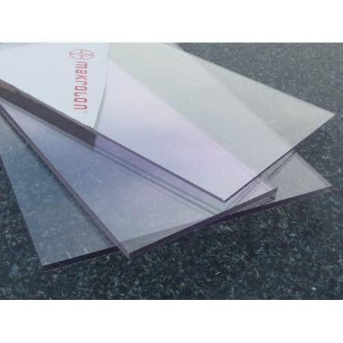 Plate Polycarbonate different UV Sizes, thickness, transparent (2-20 mm) PC colorless wide selection alt-intech® (1000 x 600 mm, 4 mm)