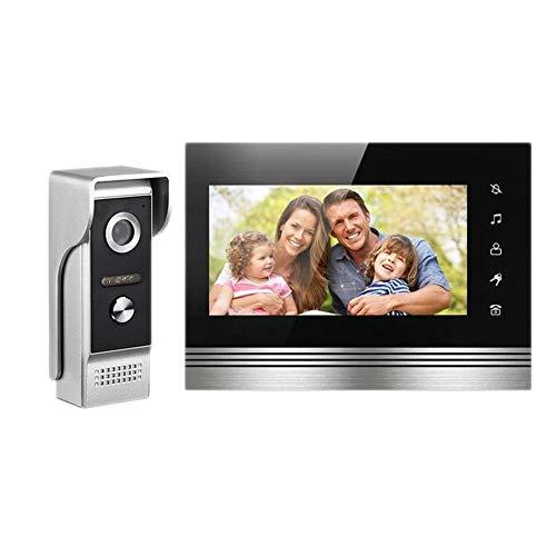 DYHM 7-Zoll-High-Definition-Video-Gegensprechanlage Türklingel Aufbau elektronische Zutrittskontrollgeräte Infrarot-Nachtsicht Rainproof HD-Display (Color : Doorbell)