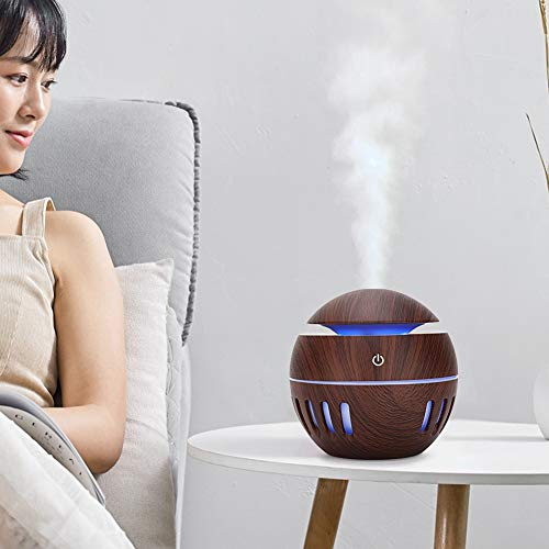 Humidifier,130ml Usb Desktop Colorful Led Diffuser Bedroom Air Mist Maker Mute Humidifier Release Fresh Air to Help You Relieve Asthma Skin Allergies Insomnia and Other Symptoms