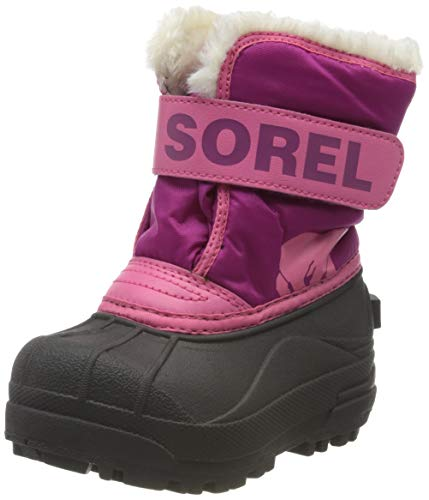 Sorel Unisex Baby Toddler Snow Commander Stiefel, Dunkelrosa (Tropic Pink/Deep Blush), 24 EU