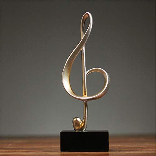 Winpavo Escultura Figurilla Nordic Notas Creativas Adornos Estantería Partición Decoraciones para El Hogar Sala De Manualidades Música De Piano Muebles De Plata Antigua A