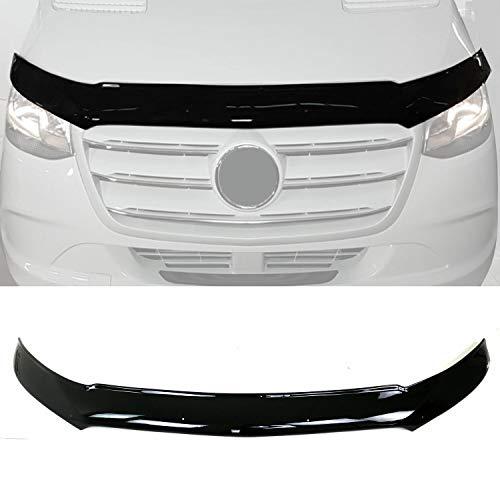 Motorhaube Deflektor Steinschlagschutz Kompatibel mit Sprinter 907 910 2018-2021 | Schwarz Insekten Motorhaubenschutz Rahmenschutzfolie Maske Auto Zubehör