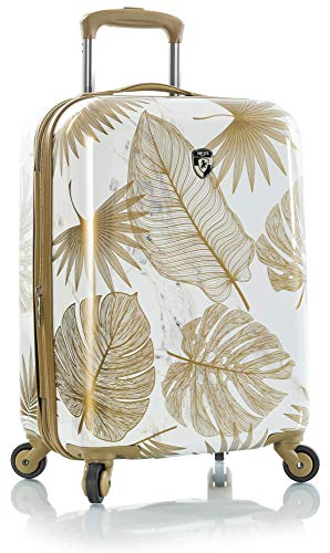 "Heys America Oasis Fashion 21"" Carry-on Spinner Luggage With TSA Lock (White/Gold)"