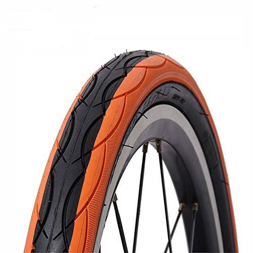 CZLSD Neumático de la Bicicleta de Color 20 14 Borde 20 * 14 * 1,5 Neumáticos 1,75 Ultraligero 290g BMX Bicicleta Plegable del Bolsillo de Bicicleta de montaña de 20 Kid Pneu (Color : Orange)