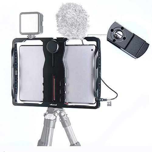 LFTS Tablet-Ständer für Größe 4,44-6,69-Zoll-Federschloss ARRI-Loch Kalte Stiefel1 / 4- und 3/8-Schraubenloch-Installation Mikrofonfüllleuchte Video-Lehranker gewidmet