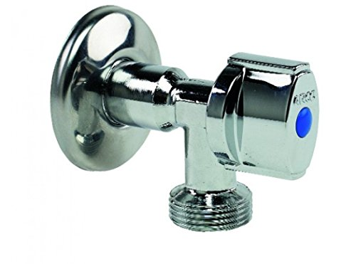 Arco Wasserhahn für Waschmaschine, verchromt, Anti-Kalk, 0,5–0,75Zoll