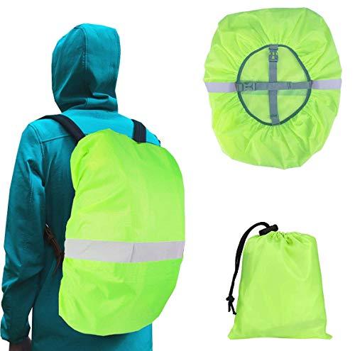 JAHEMU Funda para Mochila Impermeable Cubierta de Mochila Reflectante Funda de Mochila para la Lluvia Cubre Mochila para Caminar al Aire Libre, Camping, 45L (M)
