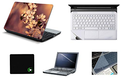 StickerKing 5in1 Laptop Accessories Combo 15.6 Inch Sunset Effects Laptop Skins Stickers, Screen Guard, Key Guard, Mouse Pad and Palmrest Skin for HP-DELL-Lenovo-Asus-Acer Laptops || Notebooks
