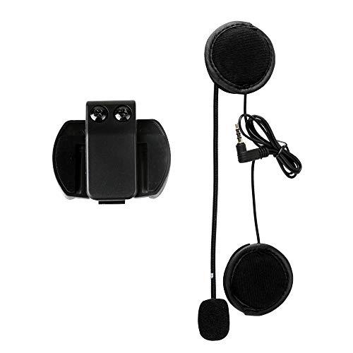 Altavoz Auriculares, V4 V6 Intercomunicador Accesorios Micrófono Altavoz y Clip para V4 V6 Casco Intercomunicador Motocicleta BT Interphone 3.5mm Jack Plug