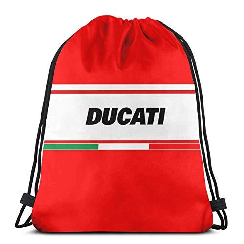 AOOEDM Ducati Italien Wasserdichter faltbarer Sport Sackpack Gym Bag Sack Drawstring Rucksack
