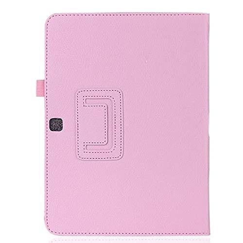 LIUCHEN Funda de tabletaFunda de Cuero PU Premium para Samsung Galaxy Tab 3 10.1 GT-P5200 P5210 P5220 Funda Delgada para Samsung Tab4 10 SM-T530 T531 T535, Rosa, Tab 2 10.1 GT, P5100