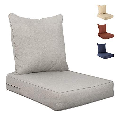 Bathonly Deep Seat Cushions Set, Armchair Cushions, 2-Piece Replacement Deep Seating Chair Cushion Set for Outdoor Armchair Patio Furniture