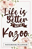 Notebook Planner Life is Better with Kazoo Vintage Musical Instrument Funny: Book, Hourly, Agenda, PocketPlanner, Monthly, Pretty,, Home Budget, , Daily Organizer