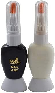 Adbeni Nail Art Pack Of 2 (White Black)