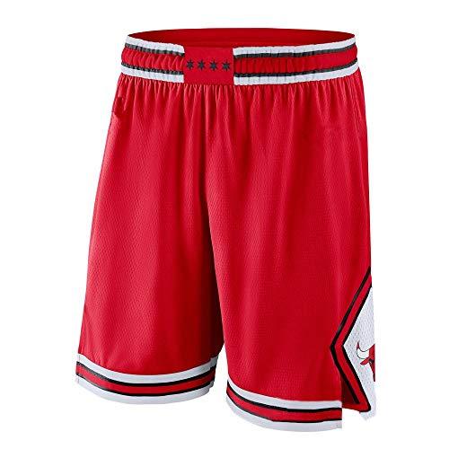 ZXZXING Pantalones Cortos de Hombre Pantalones de Baloncesto Pantalones de los Chicago Bulls con Pantalones Cortos Bordados con Chips Pantalones Cortos de Jersey Swingman