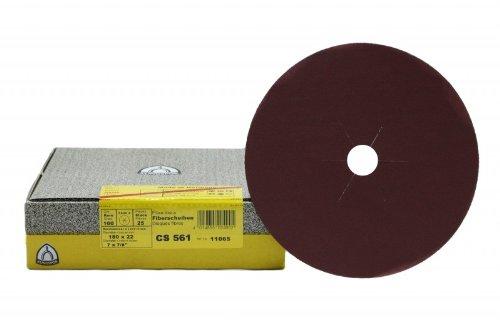 25 Stück Klingspor Fiberscheiben 180 mm Korn 24 Stern CS561