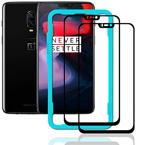 Ibywind OnePlus 6 Screen Protector [Pack of 2]-3D Full Coverage Premium 9H Tempered Glass Screen Protectors with Easy Install Kit for OnePlus 6