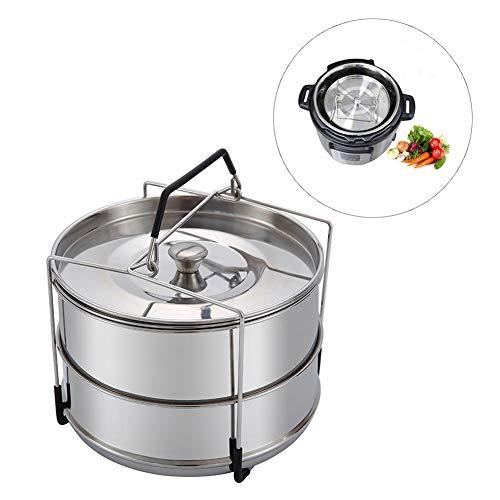 Dampfgarer 5,5 L, Mehrzweck Kapazität Dampfgarer zum Dämpfen von Reis, Gemüse, Fleisch oder Fisch,