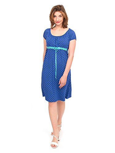 Viva la Mama I blaues Umstandskleid Stillkleid Sommer Schwangerschaftskleid Umstandsmode festlich Damen I ELLI – Kobaltblau Herz - 3