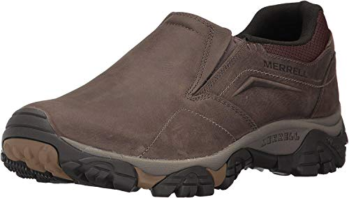 Merrell Men's Moab Adventure MOC Hiking Shoe, Dark Earth, 12 M US