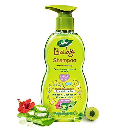 Dabur Baby Shampoo: With No Harmful Chemicals & Tear Free Formula |Contains Aloe Vera & Gooseberry | pH balanced , Hypoallergenic & Dermatologically Tested with No Paraben & Phthalates - 500 ml
