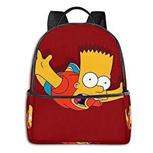 4193UdtcSnL. SS300  - Simpsons - Mochila para estudiantes, unisex, diseño de dibujos animados, 14,5 x 30,5 x 12,7 cm