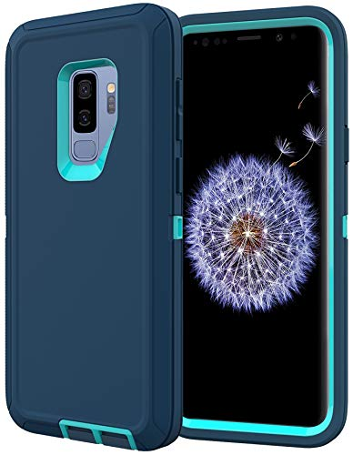 Diverbox for Galaxy S9 Plus Case, Shockproof Dropproof Dust-Proof,Heavy Duty Protection Phone Case Cover for Samsung Galaxy S9 Plus 6.2 inch (Turquoise)