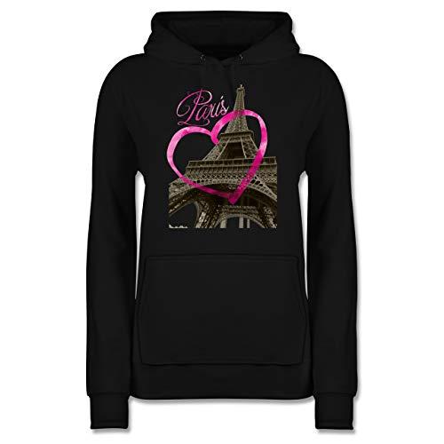 Städte - I Love Paris - XS - Schwarz - Urlaub - JH001F - Damen Hoodie und Kapuzenpullover für Frauen