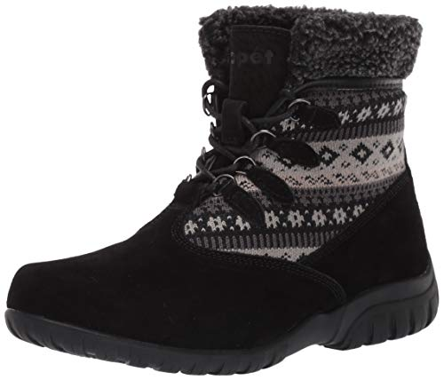 Propet Women's Delaney Alpine Fashion Boot Black 09H 4E US