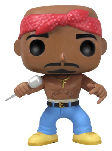 POP Vinyl Rocks No. 19 Tupac 2Pac Shakur 10cm Vinyl Deformed Figur