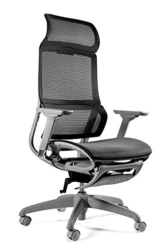 UNIQUE DESIGN FOR PEOPLE - Space - Silla ergonomica de Oficina apoyabrazos reposapies