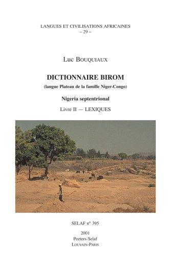 FRE-DICTIONNAIRE BIROM (LANGUE: 29 (Societe D'etudes Linguistiques Et Anthropologiques De France)