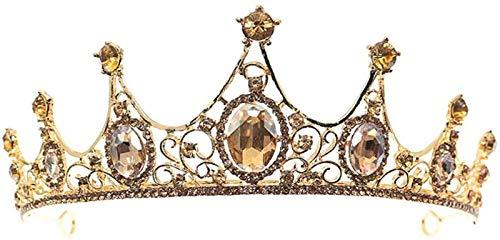 Auoeer Crown Tiaras de la Boda Cristal Diamante Diamante BARORA Tiara Tienda...