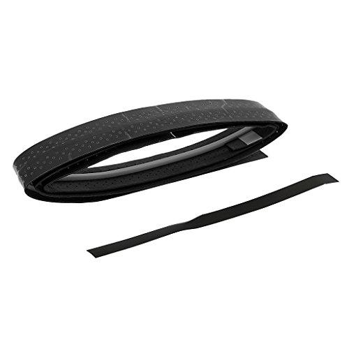 Anti-Rutsch Schweißaufnahme Griffband Griffbänder für Tennis Squash-Schläger Badminton Baseballschläger Billiard Angeln - Schwarz