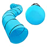 Houseables Dog Tunnel, Agility Equipment, 18 Ft Long, 24' Open, Polyester, Play Tunnels for Training Small & Medium Dogs, Park Playground Toy, Large Obstacle Course for Pets, with Carrying Case