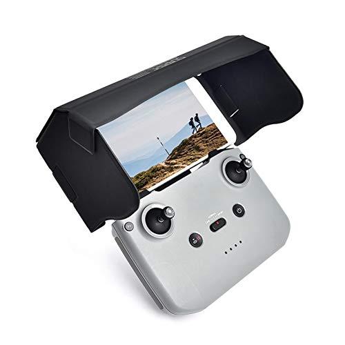 Handy-Sonnenblende, faltbarer Handy/Tablet-Monitor Sonnenschutz für DJI Mavic Mini 2/Mavic Air 2, schwarze Glasfaser und PU-Leder-Materialien, magnetisches Absorptionsdesign, 18,2 x 10,1 x 1 cm