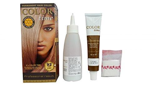 SPARSET 2x im ständigen Färbemittel Haarfarbe Blond Perle 92
