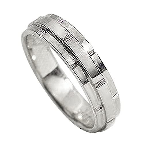 [ジュエリーアイ]Jewelry i 指輪 バンドデザイン プラチナ 幅広 Pt900 結婚指輪 単品 ピンキーリング 7号