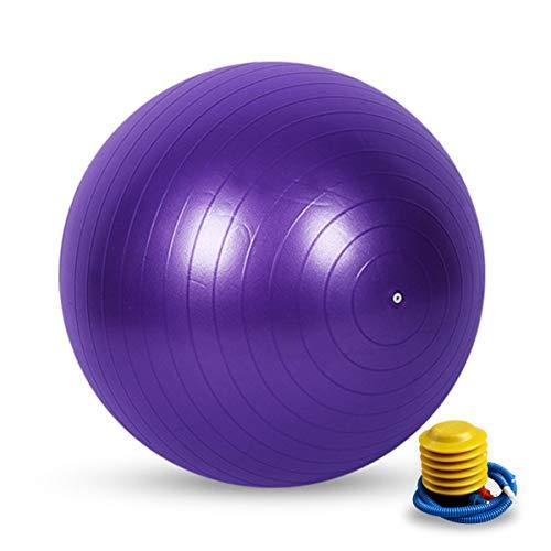 Fanvans - Pelotas de gimnasia antipinchazos, con bomba para yoga, pilates, embarazo, gimnasia doméstica, silla de oficina 55 cm/65 cm/75 cm