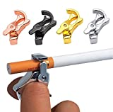 4 Colores de Anillo de Boquilla, Clip para Fumar de Aleación de Zinc, Anillo de Dedo de Cigarrillo que Puede Soltar Manos para Amantes del Juego, Guitarristas y Conductores