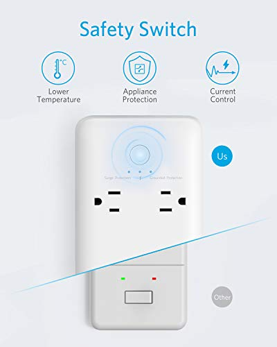 Surge Protector Power Strip, Anker 6 Outlet & 3 PowerIQ USB Charging Ports USB Power Strip, PowerPort Strip 6 with 6.6 Foot Long Extension Cord, Flat Plug, for Home, Office, and More (1280 Joule)