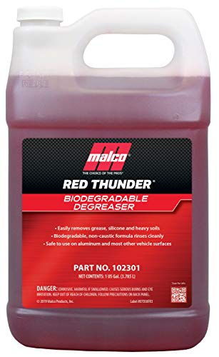 Malco Red Thunder - Automotive Cleaner and Degreaser - Breaks Down Grease & Grime on Engines, Wheels and Tires/Biodegradable, Heavy Duty and Multi-Purpose / 1 Gallon (102301)