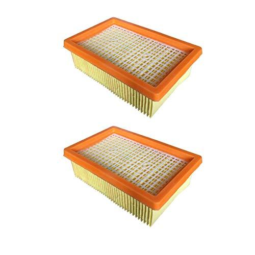 ZRF Filtro de repuesto Hepa para aspiradora KARCHER Plano Plisado MV4 MV5 MV6 WD4 WD5 WD6 WD5 Wet & Seco, 2 piezas