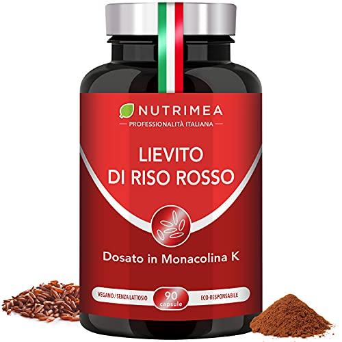 Lievito di Riso Rosso + Coenzima Q10 Nutrimea | 90 capsule | Altamente Dosato di Monacolina K | Registrato Presso Ministero Della Salute Italiano