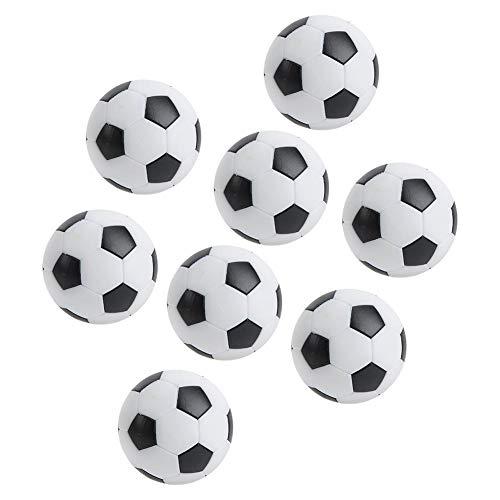FOTABPYTI Bolas de fútbol de Mesa, 8 Piezas de Mini balones de fútbol de Mesa Negros, Mini Sala de Deportes de Ocio para entusiastas del fútbol Niños Adultos Diversión Interior/Exterior
