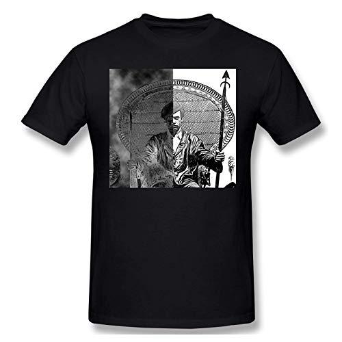 IUBBKI Camiseta básica de Manga Corta para Hombre Mens Print with Huey P Newton Fashion Short Sleeve T-Shirt