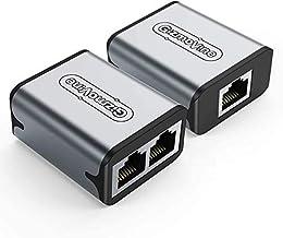 GizmoVine Ethernet Splitter Netzwerk Switch 1 zu 2 Stecker für RJ45 Cat5 Kabeladapter (2 Stück)